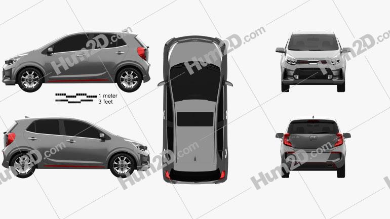 Kia Picanto GT-Line 2020 car clipart
