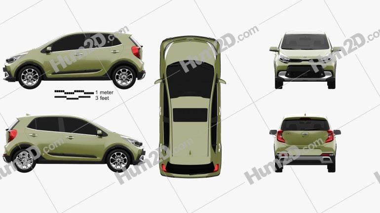 Kia Picanto X-Line 2020 car clipart