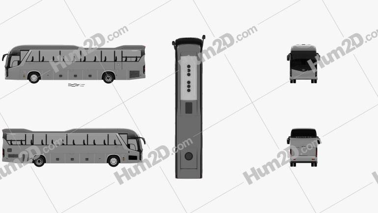 Kia Granbird Bus 2021 Clipart Image
