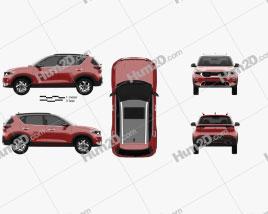 Kia Sonet GT-Line 2020 car clipart