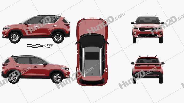 Kia Sonet GT-Line 2020 Imagem Clipart