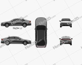 Kia K5 GT-line CN-spec 2019 car clipart