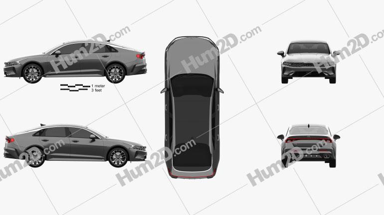 Kia K5 GT-line CN-Spez 2019 car clipart