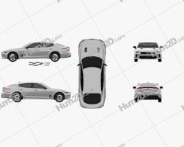 Kia Stinger 200S 2020 car clipart