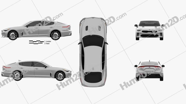 Kia Stinger 200S 2020 Clipart Image