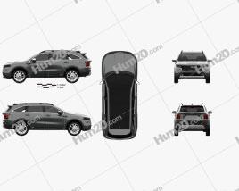 Kia Sorento X-Line 2020 car clipart