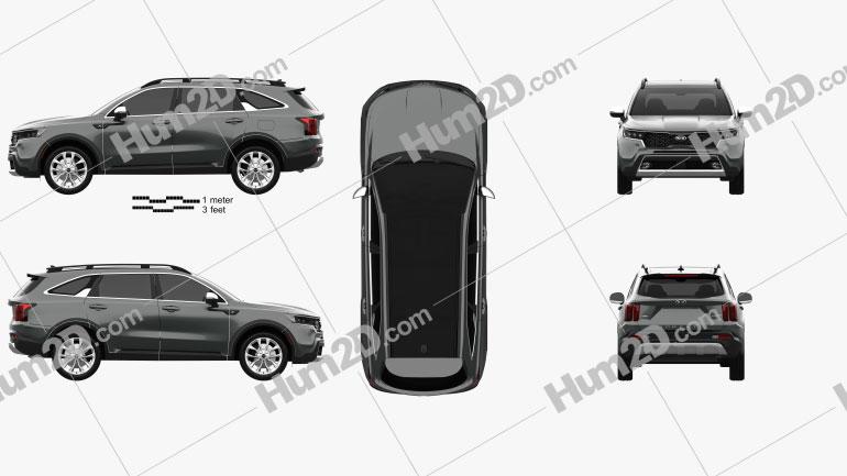 Kia Sorento X-Line 2020 Clipart Image