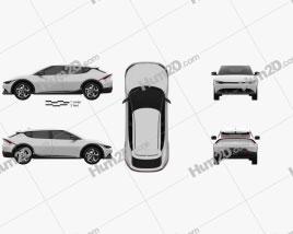 Kia EV6 2022 car clipart