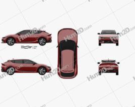 Kia EV6 GT-Line 2022 car clipart