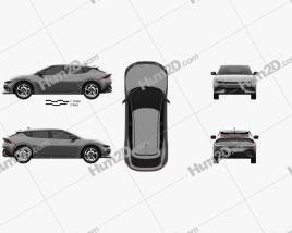 Kia EV6 GT 2022 car clipart