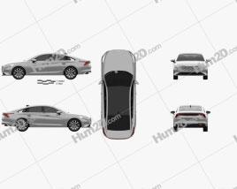 Kia K8 2021 car clipart
