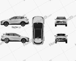 Kia Sportage 2022 car clipart
