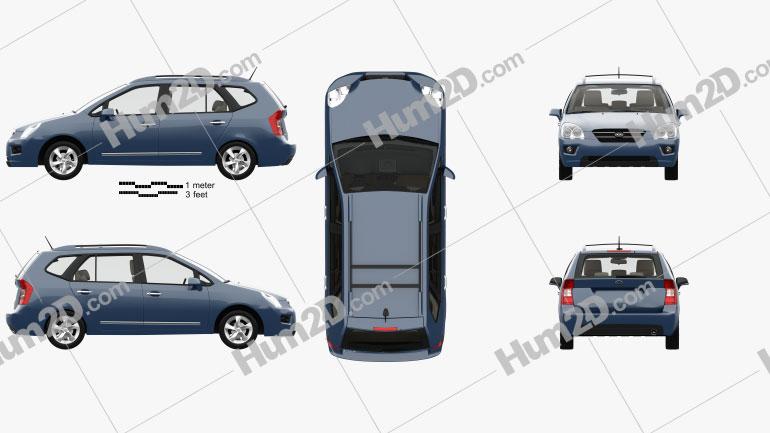 Kia Carens with HQ interior 2006 car clipart