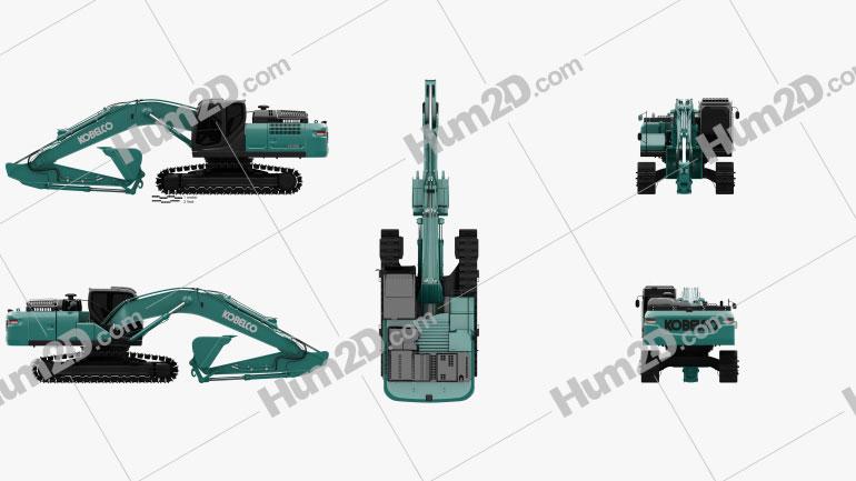 Kobelco SK300LC 2020 Clipart Image