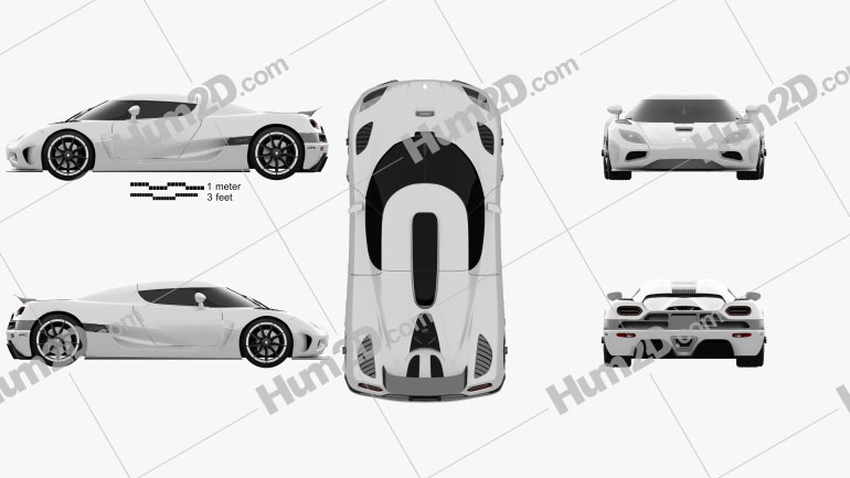 Koenigsegg Agera 2011 car clipart