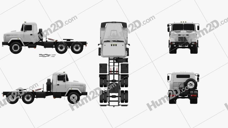 KrAZ 64431 Tractor Truck 1994 clipart