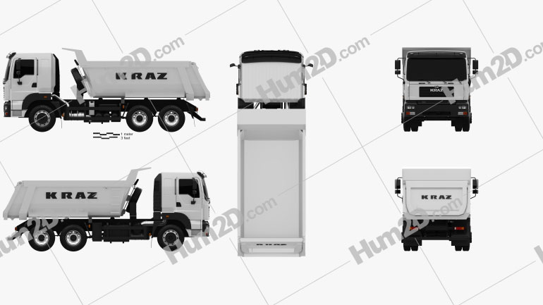 KrAZ C26.2M Tipper Truck 2013 clipart
