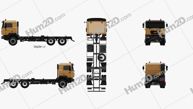 KrAZ H23.2M Fahrgestell LKW 2011 clipart