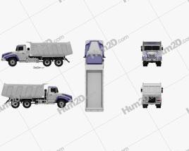 KrAZ C18.1 Dumper Truck 2011 clipart