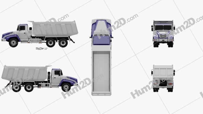 KrAZ C18.1 Dumper Truck 2011 Clipart Image