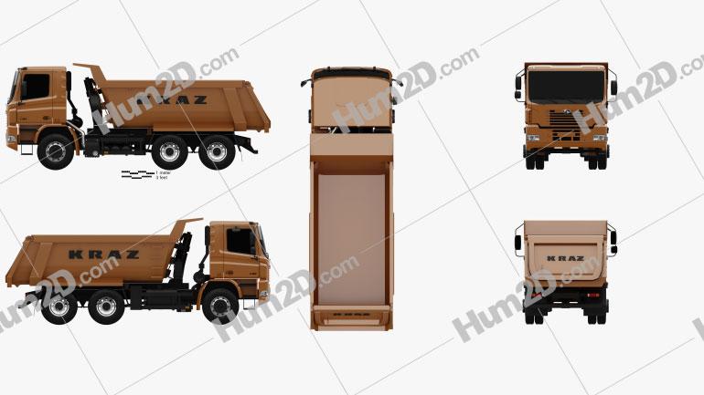 KrAZ C20.2 Dumper Truck 2011 Clipart Image