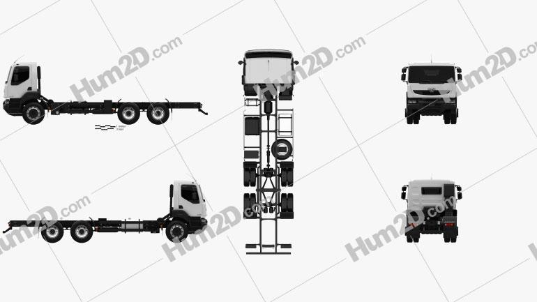 KrAZ H23.2R Fahrgestell LKW 2011 clipart