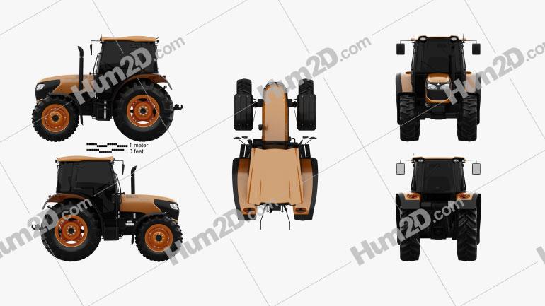 Kubota M7060 2018 Tractor clipart