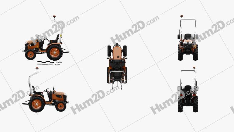 Kubota B1181 Tractor 2020 Tractor clipart