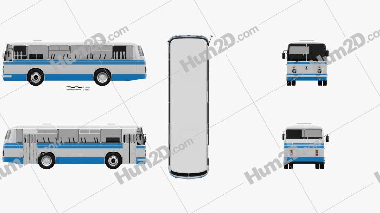 LAZ 695N Bus 1976 clipart
