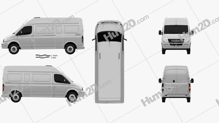LDV V80 (Maxus) L2H3 2013 clipart