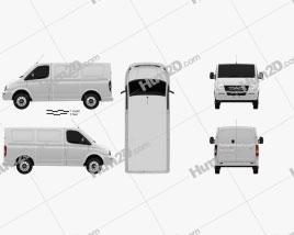 LDV V80 L1H1 Panel Van 2013 clipart