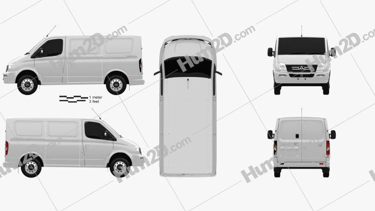LDV V80 L1H1 Panel Van 2013 Clipart Image