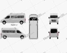 LDV V80 L2H3 Minibus 2013 clipart