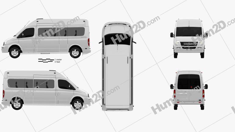 LDV V80 L2H3 Minibus 2013 Clipart Bild