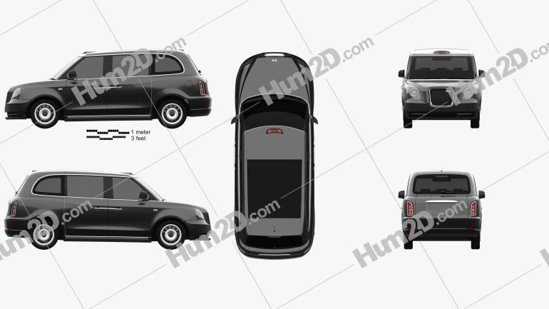 LEVC TX Taxi 2017 car clipart