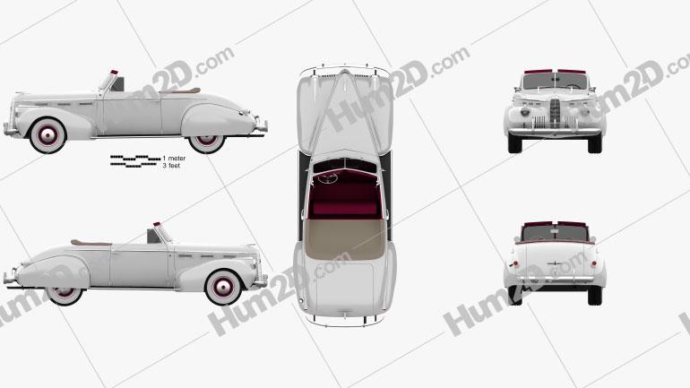 LaSalle Convertible Coupe (40-5267) 1940 car clipart