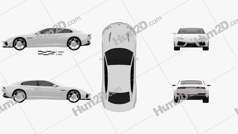 Lamborghini Estoque 2008 Clipart Image