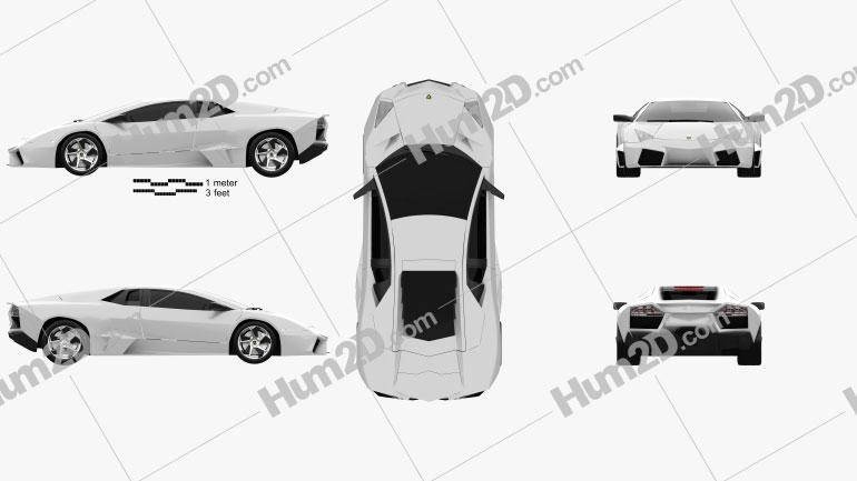 Lamborghini Reventon 2009 Clipart Image