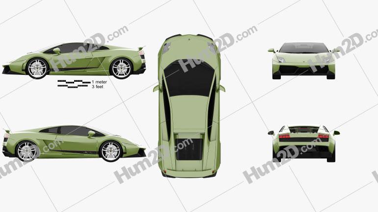 Lamborghini Gallardo LP570-4 Superleggera 2011 car clipart