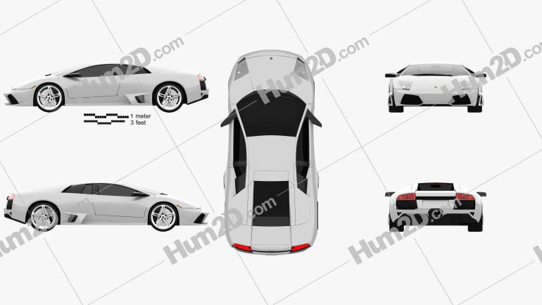 Lamborghini Murcielago LP640 2006 car clipart