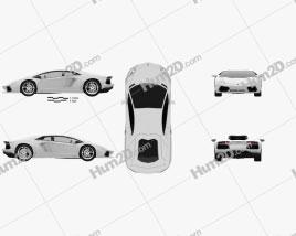 Lamborghini Aventador 2012 car clipart