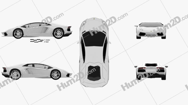 Lamborghini Aventador 2012 Clipart Bild