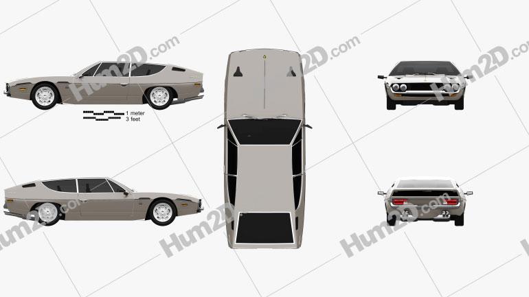 Lamborghini Espada 1968-1978 Clipart Bild