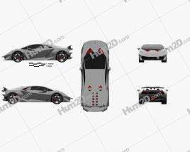 Lamborghini Sesto Elemento 2011 car clipart