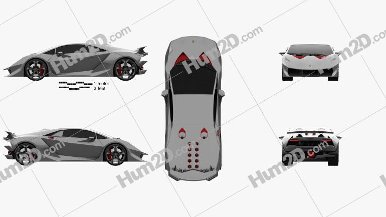 Lamborghini Sesto Elemento 2011 Clipart Image