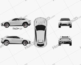 Lamborghini Urus 2012 car clipart