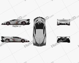 Lamborghini Veneno 2013 car clipart
