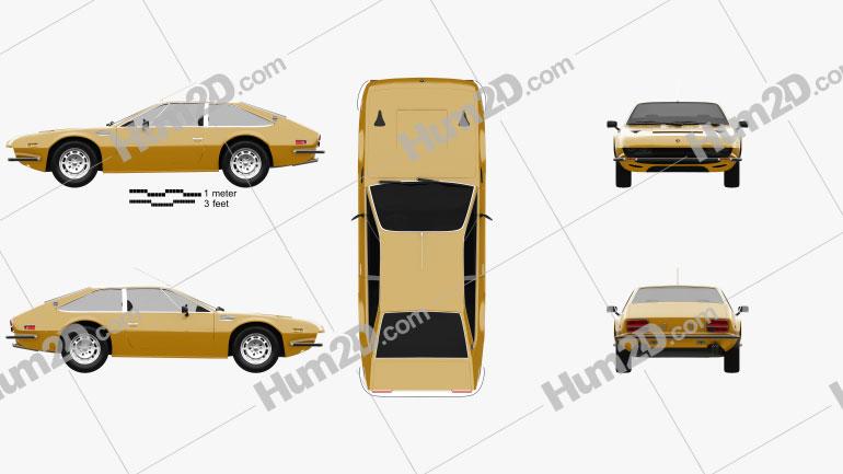 Lamborghini Jarama 400 GTS 1976 Clipart Image