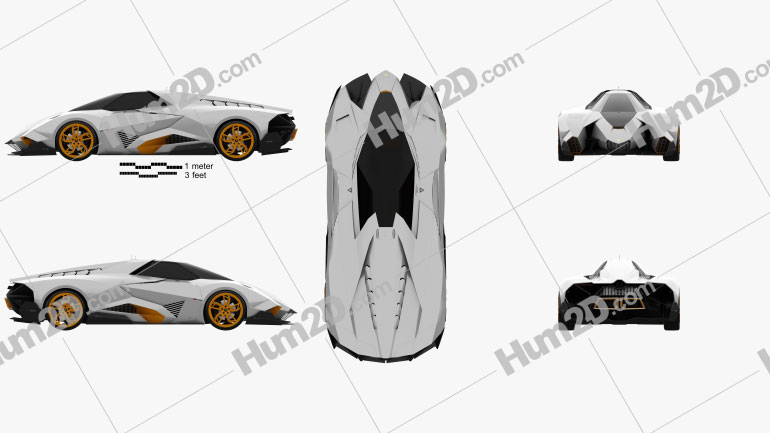Lamborghini Egoista 2013 car clipart