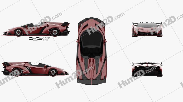 Lamborghini Veneno Roadster 2014 Clipart Image